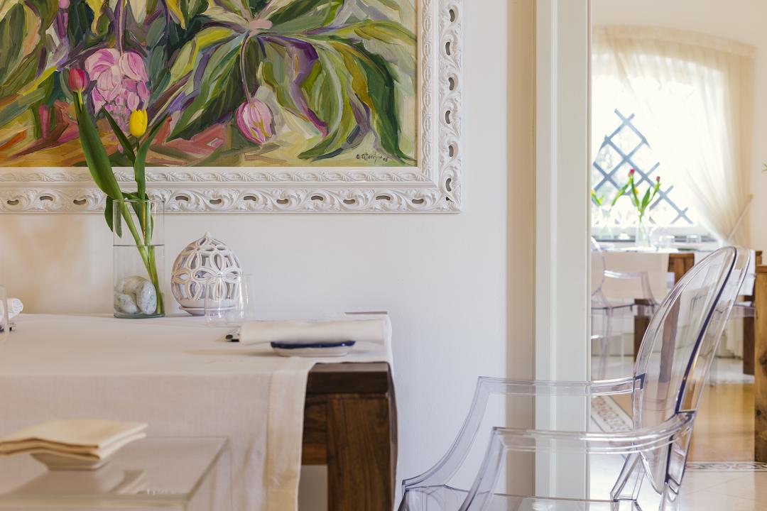 Foto interni sala ristorante. Immagine background